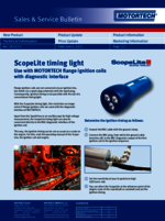 Sales & Service Bulletin: Use with Flange Ignition Coils