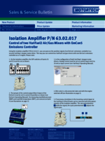 Sales & Service Bulletin Isolation Amplifier for VariFuel2/EmCon5