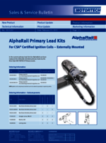 Sales & Service Bulletin AlphaRail Primary Lead Kits