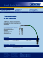 Sales & Service Bulletin Thermoelement für MAN-Gasmotoren
