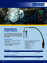 Sales Flyer Thermoelement für MAN-Gasmotoren