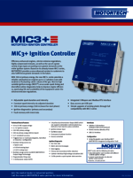 Sales Flyer MIC3+ Ignition Controller