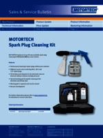 Sales & Service Bulletin Spark Plug Cleaning Kit