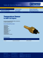 Sales & Service Bulletin Temperature Sensor for MAN Gas Engines