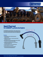 Sales Flyer Spark Plug Lead for CUMMINS 5.9 Series