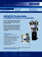 Sales & Service Bulletin Trottle Bodies for WAUKESHA VHP Series Gas Engines